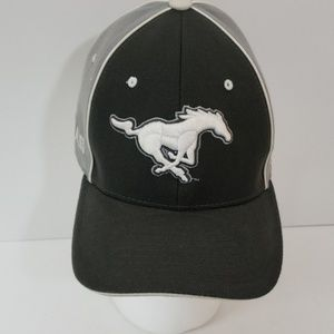 SMU Mustangs Gray Silver Hat Cap M/L